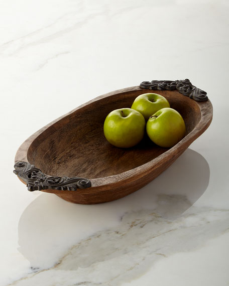 G G Collection Antiquity Small Oval Bowl