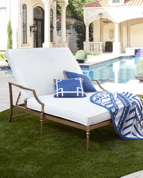 Sophia Outdoor Double Chaise & Pedestal Table &