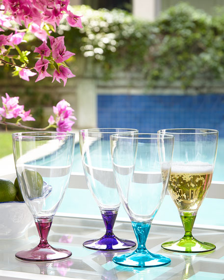 Colorful Beer Glasses, Set of 4