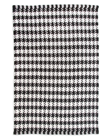MacKenzie-Childs Houndstooth Scatter Rug, 2' x 3'