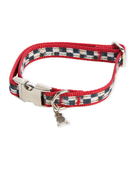 Small Courtly Check Couture Red Dog Collar