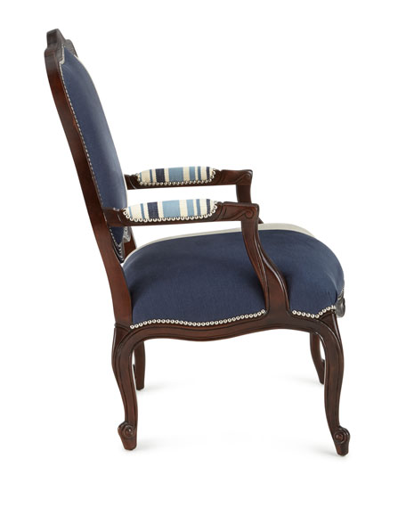 Image 3 of 3: Massoud Michael Colorblock Bergere Chair