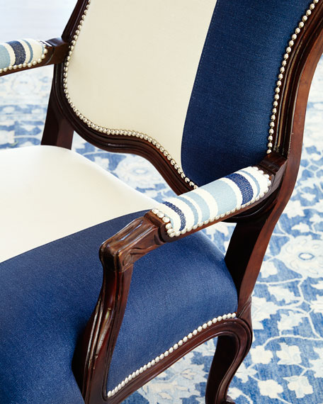 Image 2 of 2: Massoud Madison Colorblock Bergere Chair
