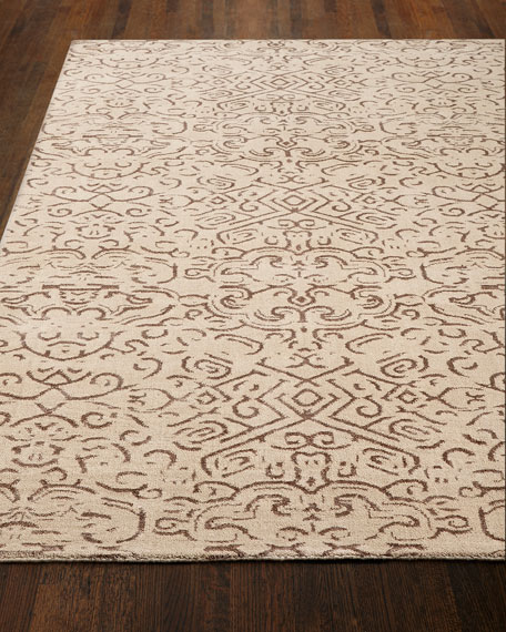 """Etched Geometric Runner, 2'6"""" x 10'"""