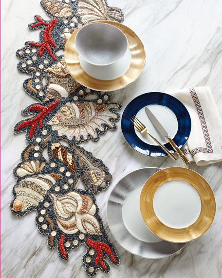 Neiman Marcus 12-Piece Cobalt Brushstroke Dinnerware Service