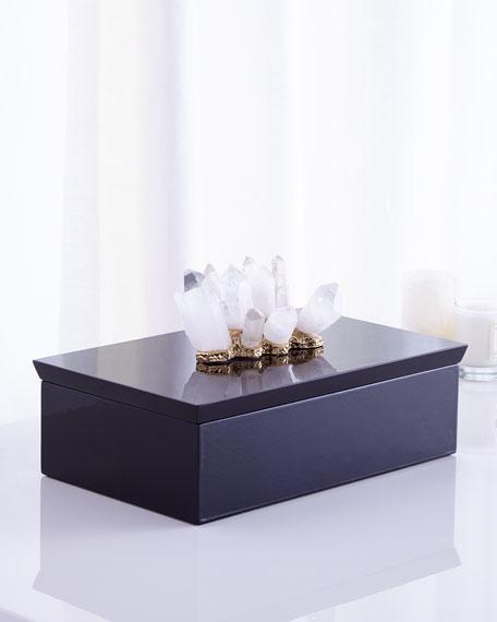 John-Richard Collection Crystal-Adorned Black Box
