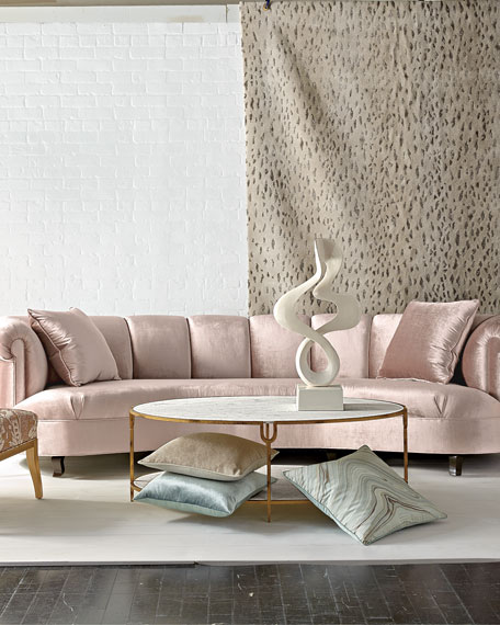 """Audrey Channel-Tufted Sofa 90"""""""
