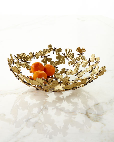 Butterfly Gingko Centerpiece Bowl