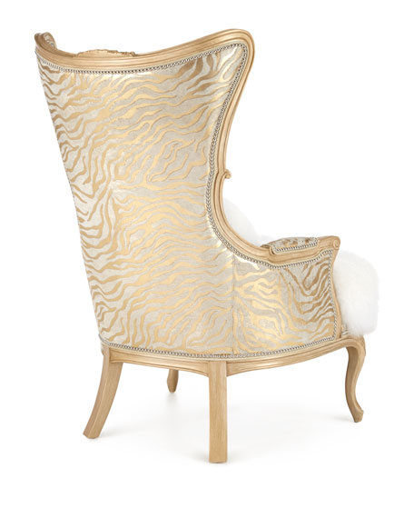 Fiorello Hairhide Wing Chair