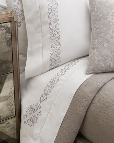 SFERRA Queen Ardyn 400TC Embroidered Sheet Set