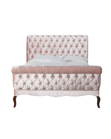 Haute House Duncan Fife Blush Tufted Queen Bed