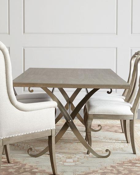 Bernhardt Gant Metal-Base Dining Table