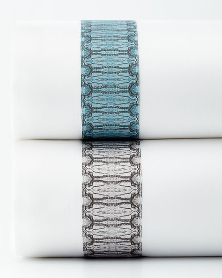 Tribute Goods Fine Linens Two Standard Gemstone Pillowcases