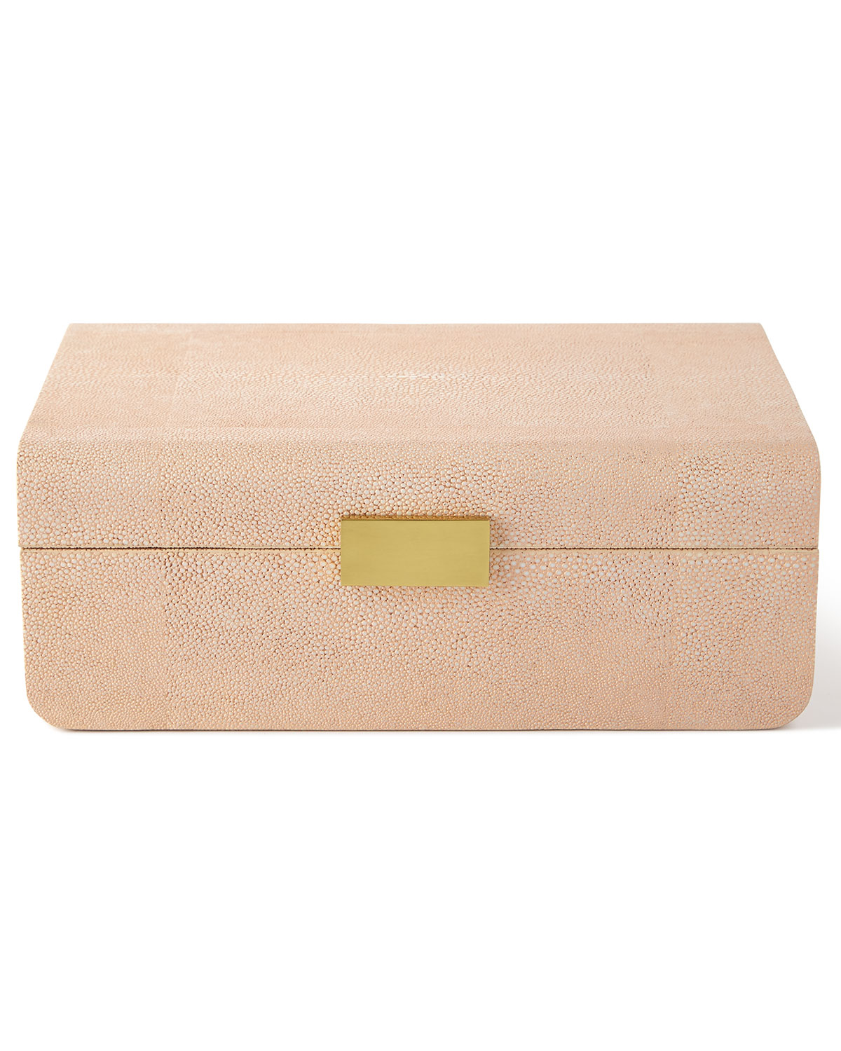 AERIN Large Blush Modern Shagreen Decorative Box
