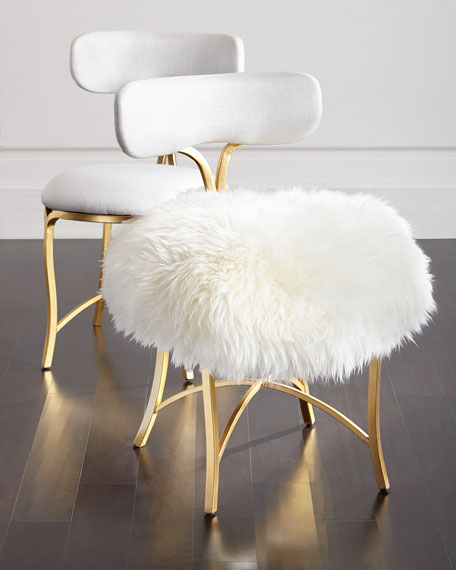 Cynthia Rowley For Hooker Furniture Swanson Sheepskin Side