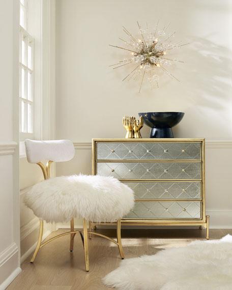 Cynthia Rowley for Hooker Furniture Swanson Sheepskin Side Chair