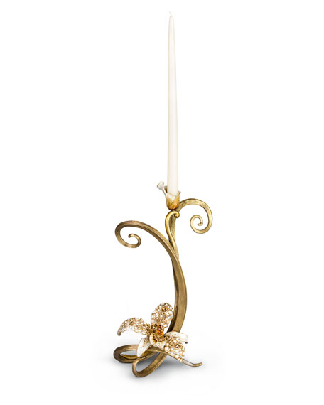 Jay Strongwater Orchid Single Candlestick