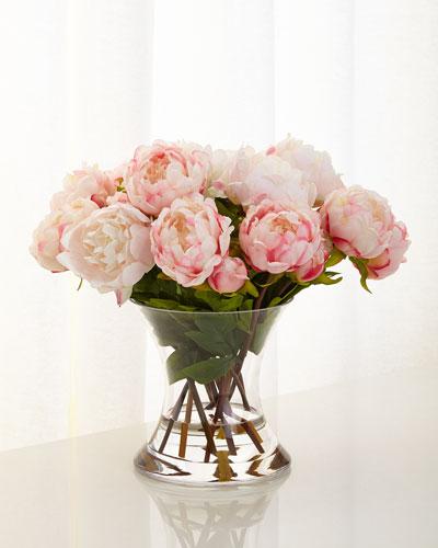 Peonies N Pink Faux-Floral Arrangement