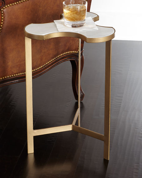 Jafar Interlocking Marble End Table