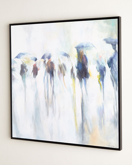"""Walking in the Rain"" Giclee"