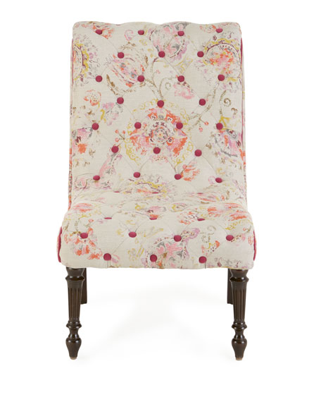 Talia Tufted-Linen Chair