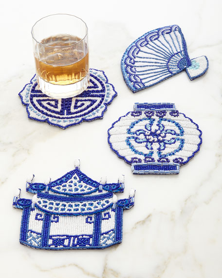 Kim Seybert Ming Coasters, 4-Piece Set