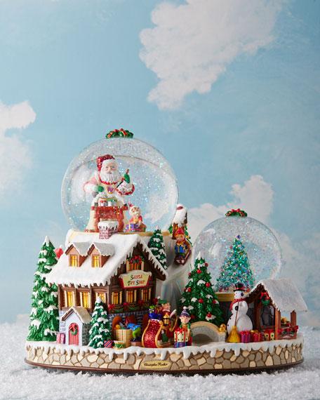 Christopher Radko Christmas Village Snowglobe | Neiman Marcus