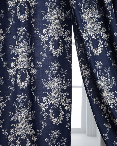 """Sherry Kline Home Two 96""""L Country Toile Curtains"""