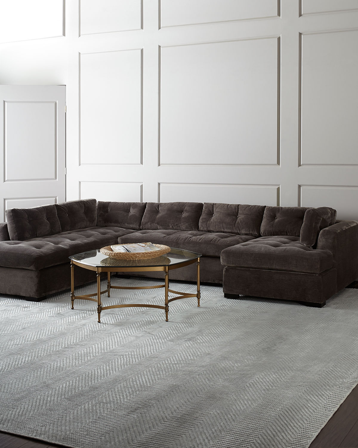 Old Hickory Tannery Mclain Gray 3 Piece Sectional