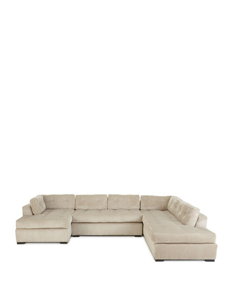 Image 2 of 2: McLain Ivory 3-Piece Right-Side Chaise Sectional Sofa