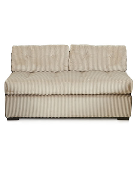 Old Hickory Tannery McLain Ivory Armless Loveseat