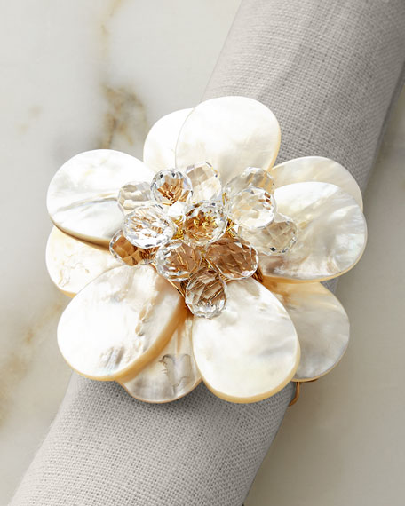 Joseph Williams Pearl Flower Napkin Ring