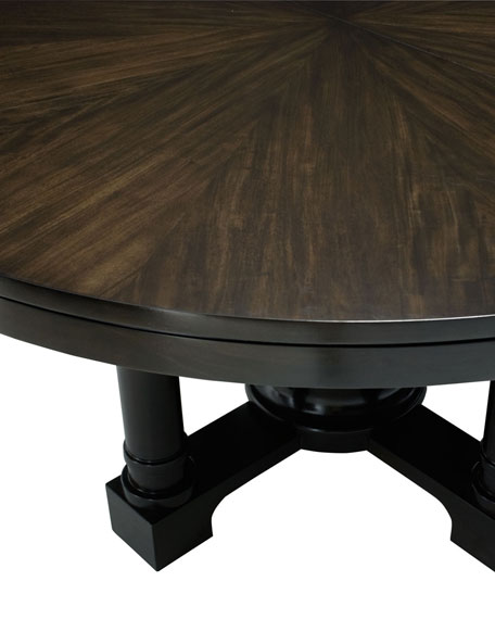 """Sutton House 60"""" Round Dining Table w/ Leaf"""