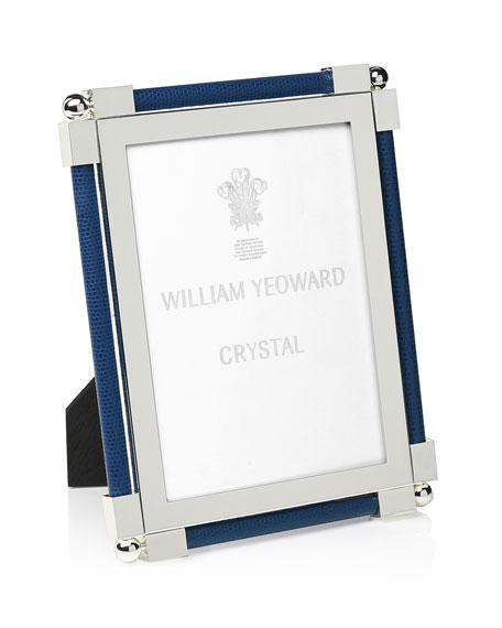 "William Yeoward Classic Shagreen Dark Blue 5"" x 7"" Frame"
