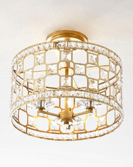 Clarion 3-Light Convertible Ceiling Fixture