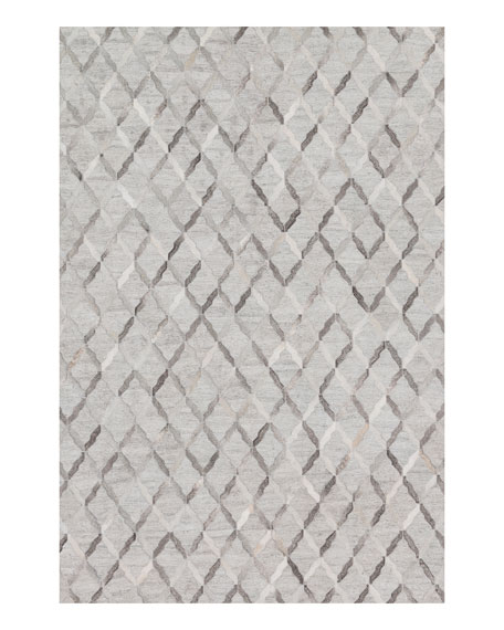 Loloi Rugs Audie Silver Hairhide Runner, 2'6