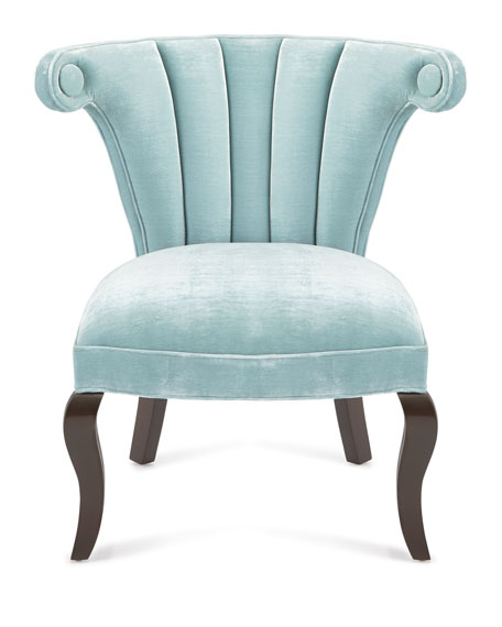 Kylie Channel-Tufted Chairs, Pair