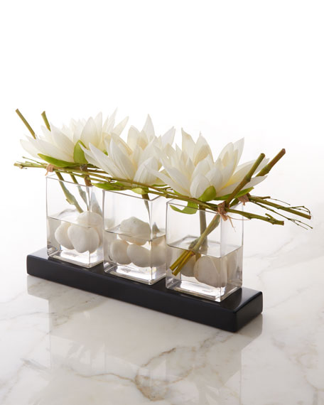 John Richard Collection Water Lilies Faux Floral