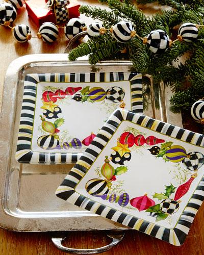 Deck the Halls Paper Dessert Plates
