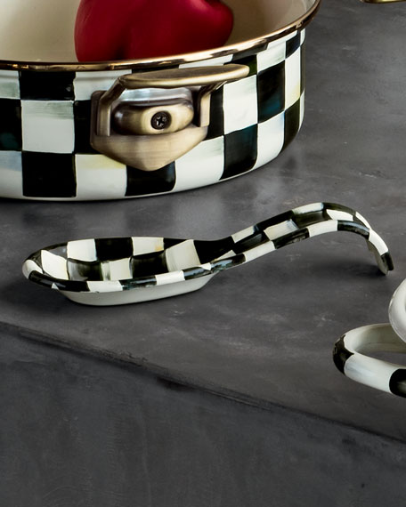 Courtly Check Enamel Spoon Rest