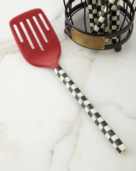 MacKenzie-Childs Courtly Check Red Slotted Turner
