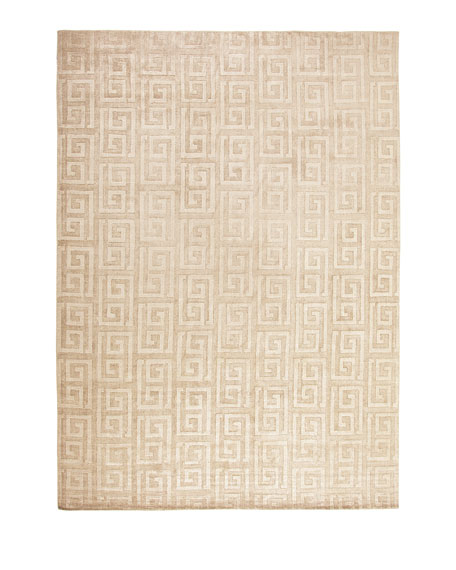 Exquisite Rugs Sadie Greek-Key Rug, 6' x 9'