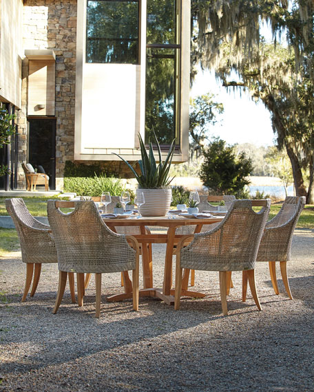 Lane Venture Edgewood Round Outdoor Dining Table