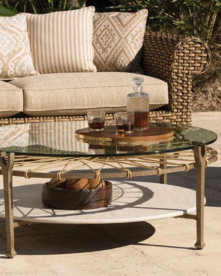Lane Venture Hemingway Outdoor Round Glass Coffee Table