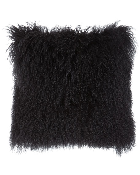 Massoud Dark Gray Tibetan Lamb Pillow