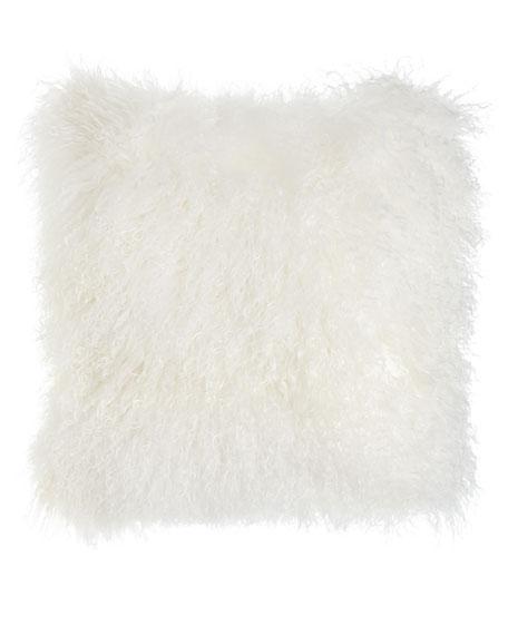 Massoud White Tibetan Lamb Pillow