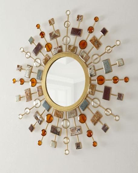 Janice Minor Gemstone Sunburst Mirror