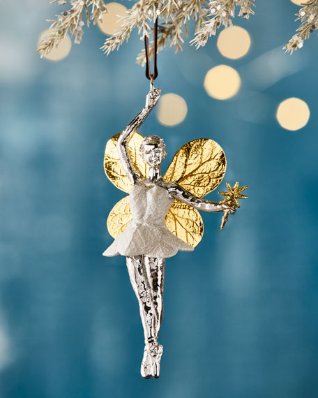 Michael Aram Botanical Leaf Fairy Christmas Ornament