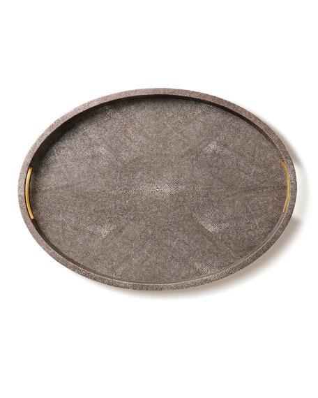AERIN Modern Chocolate Shagreen Tray