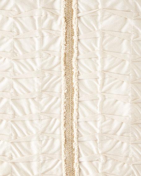 "Pleat-Textured Pillow, 13"" x 23"""